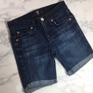 7 For All Mankind Denim Shorts Size 7